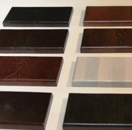 образцы лакокрасочных материалов для отделки лестниц